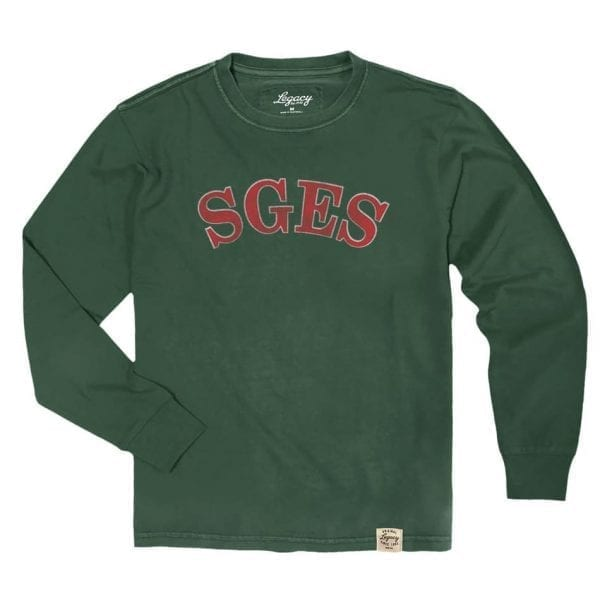 Sea Girt Patriot red and green Christmas long sleeve tee 2018